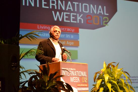 Tariq Ali speaks at International Week