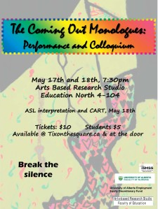 Poster for The Coming Out Monologues